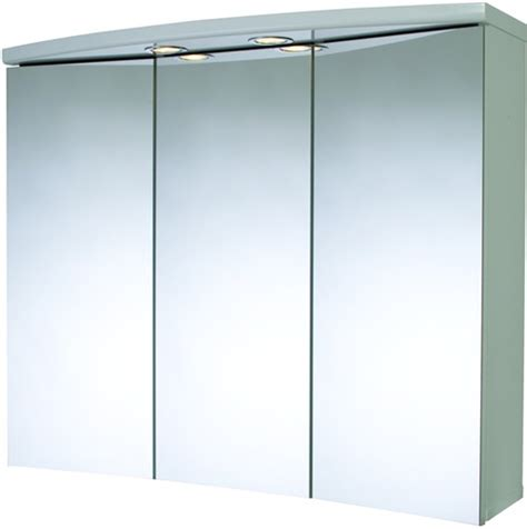 3 door bathroom cabinet lights shaver 830x690x250mm