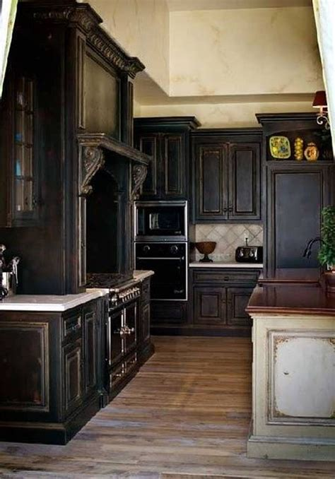 black kitchen furniture best 25 black distressed cabinets ideas on pinterest