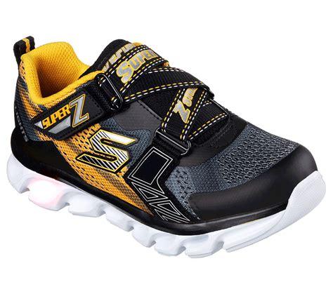 skechers boys s lights hypno flash buy skechers s lights hypno flash hook and loop shoes