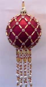 X453 bead pattern only beaded lattice christmas ornament cover pattern