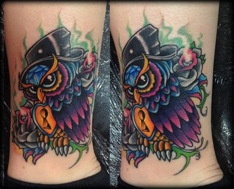 new school tattoo uk new school owl tattoo by calebslabzzzgraham on deviantart