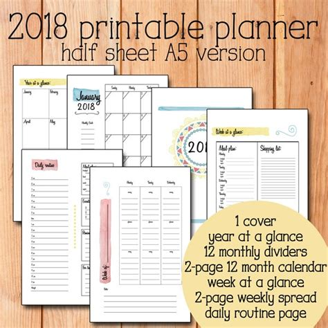 2018 planner weekly and monthly a year of grace christian calendar schedule organizer and journal notebook with inspirational quotes and floral cover books 2018 printable planner with options