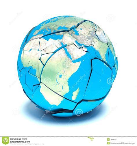 broken world drawing gebroken aarde op een witte achtergrond stock illustratie afbeelding 38246347