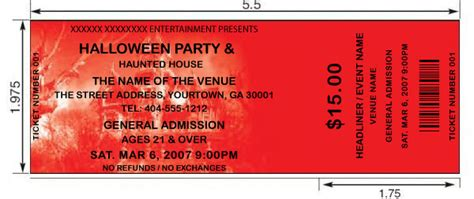 printable kings island tickets halloween tickets design and print your own halloween