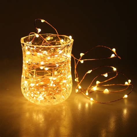 copper wire string lights led light 2m 20 leds battery operated mini led