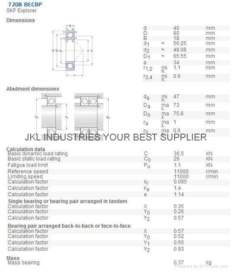 Bearing Single Angluar Contac 7309 Becbp Skf angular contact products diytrade china