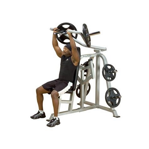leverage bench body solid lvsp leverage shoulder press bench