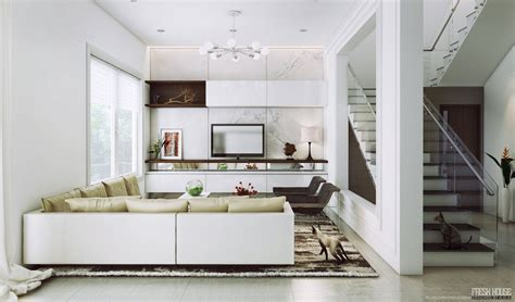 chic contemporary spaces rendered by anh nguyen white modern living room amazing decors