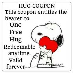 hug coupon this coupon entitles the bearer to one free