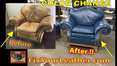 Leather Color Change Video Fixyourleather Com Youtube Change Color Of Leather Sofa