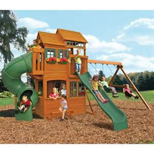 backyard swing sets costco cedar summit shelbyville playset costco for the yard