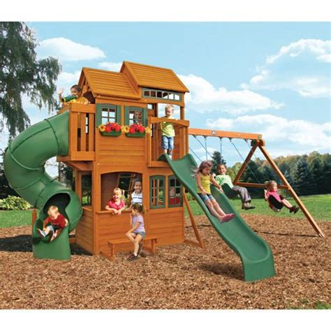 swing set playset cedar summit shelbyville playset costco for the yard