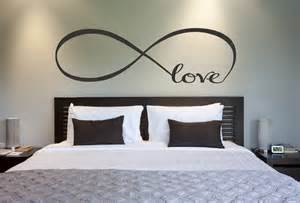 Design ideas with white wall along love infinity symbol bedroom wall