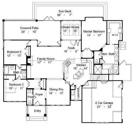 best floor plans country one story house plan
