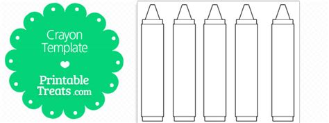 Free Printable Crayon Template Printable Treats Com Crayon Label Template