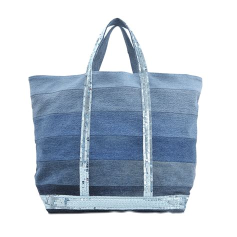 Patchwork Tote Bags - bruno medium denim patchwork tote bag in blue lyst
