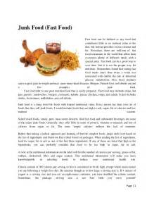 Junk Food In Schools Argumentative Essay by Junk Food Fast Food