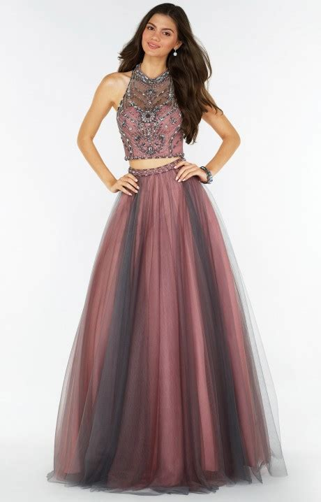 alyce paris  sleeveless  piece tulle ball gown