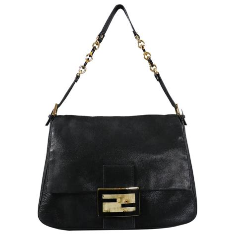 Fendi Mamma Shoulder Bag by Fendi Suede Big Mamma Shoulder Bag With Tortoise And Resin