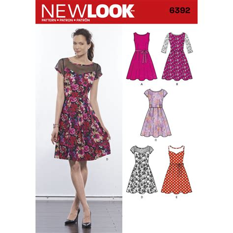 Free Catalog Request Home Decor by Pattern For Misses Dresses With Contrast Fabric Options
