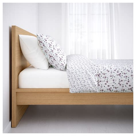 malm bed frame ikea malm bed frame high white stained oak veneer lur 246 y