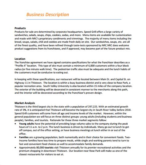business plan for a restaurant template 5 free restaurant business plan templates excel pdf formats