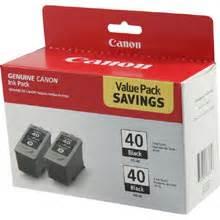 Tinta Canon Pg 40 Original canon pg 40 black ink cartridge 2 pack
