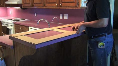 how to make a countertop template youtube
