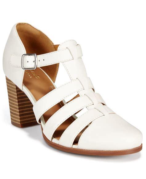 clarks white sandals clarks artisan s ciera gull t sandals in white