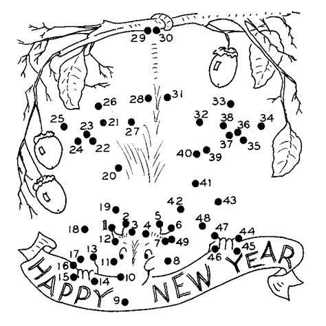 christian coloring pages for new years new year s coloring pages happy new year dot to dot