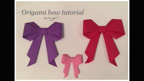 tutorial origami ribbon origami bow tutorial my crafts and diy projects
