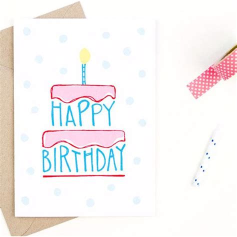 Happy Birthday Card Designs To Draw