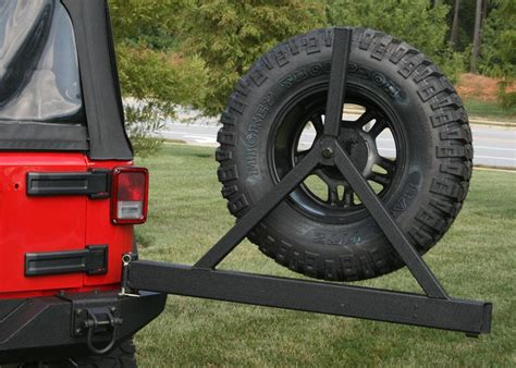 rugged ridge tire carrier rugged ridge 11546 22 textured black optional rear tire carrier for select jeep cj