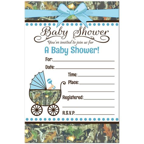 camouflage invitation template camo baby shower invitations theruntime