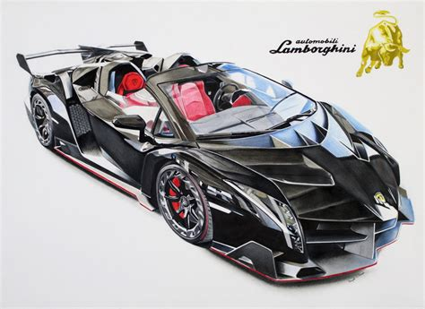Lamborghini Drawing by Lamborghini Veneno Drawing Vinayak Umesh Draw To Drive
