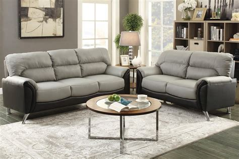 Grey Leather Set by Grey Leather Sofa And Loveseat Set A Sofa