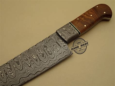 Handmade Steel - professional damascus kitchen chef s knife custom handmade