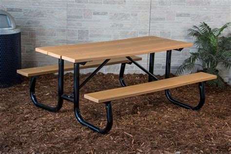 8 Ft Plastic Table by 8 Ft Recycled Plastic Picnic Table Welded Frame