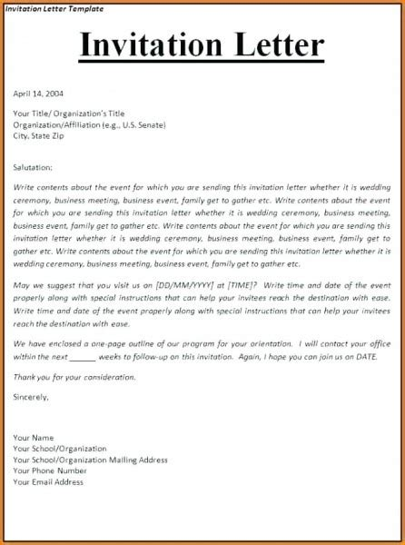 canada business visa invitation letter sample