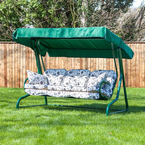 cushions for outdoor swings garden 3 seater replacement swing seat hammock cushion set