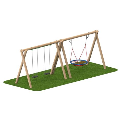 timber swing seat timber swing 2 flat seat 1 group seat playscape playgrounds