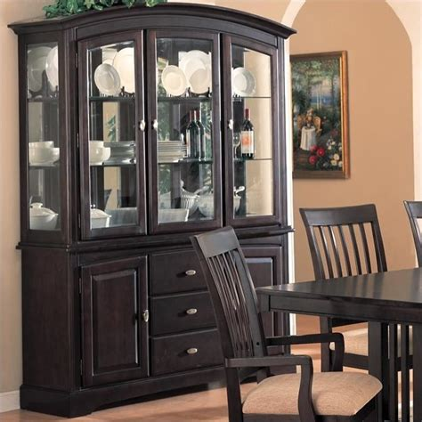Monaco China Cabinet with Doors and Drawers in Rich Dark Cappuccino   100184