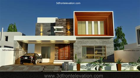 contemporary home design 3d front elevation new 1 kanal contemporary house
