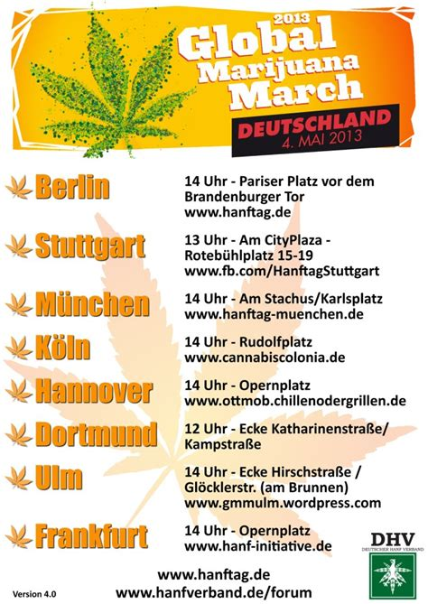 wann wird cannabis in deutschland der global marijuana march in deutschland