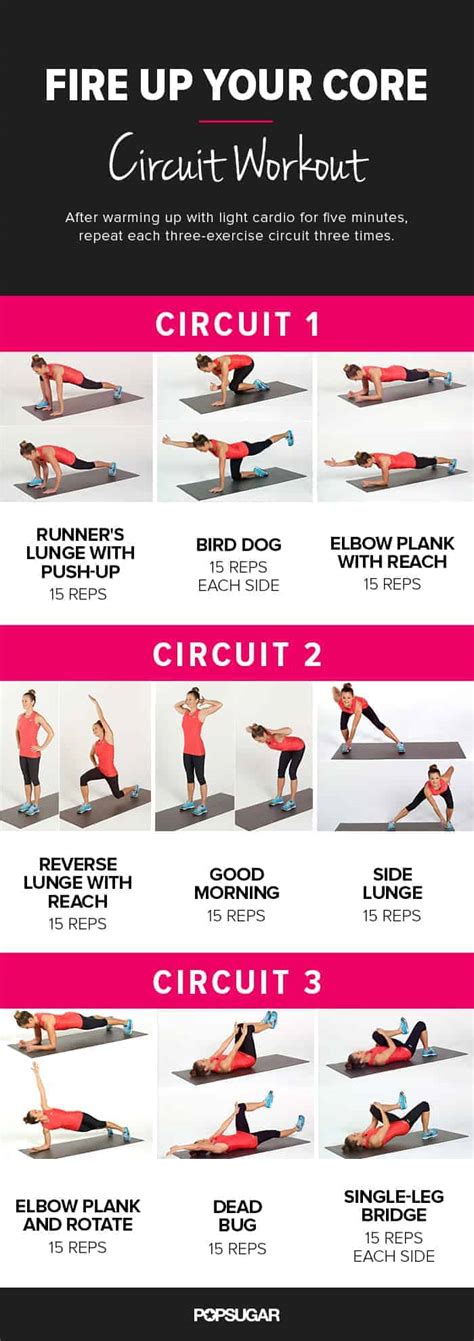 top core workouts  women  home  lean  strong