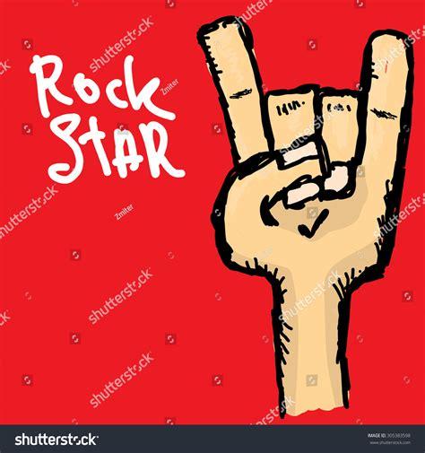 vector doodle sign vector doodle sign rock n stock vector 305383598