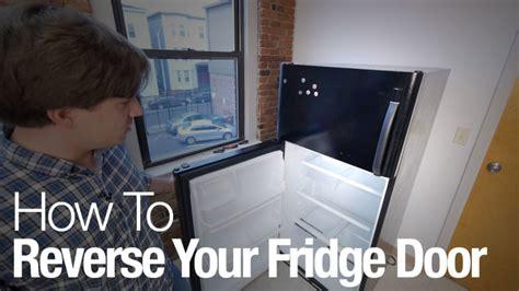 how to change refrigerator door swing how to reverse your refrigerator door reviewed com freezers