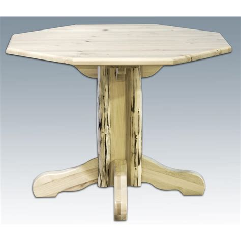 montana woodworks montana woodworks center pedestal table varnished