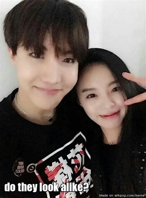 bts v siblings jhope s sister very pretty allkpop meme center