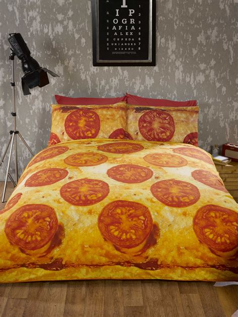 pizza bedding fun teenager student bedding photo print